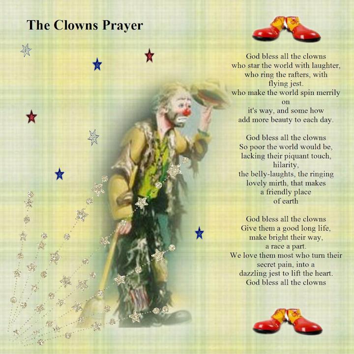 clowns prayer