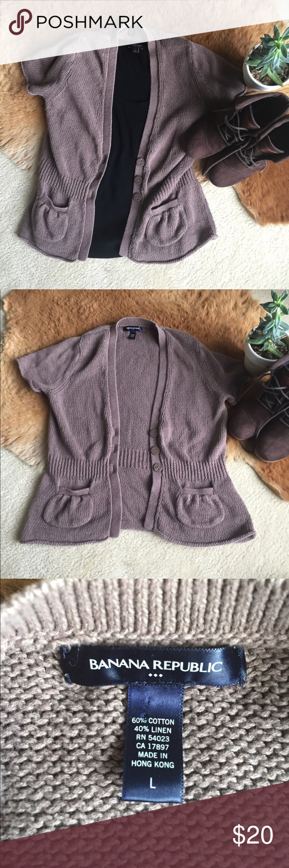Banana Republic Brown Cardigan Sweater Large | Banana republic ...