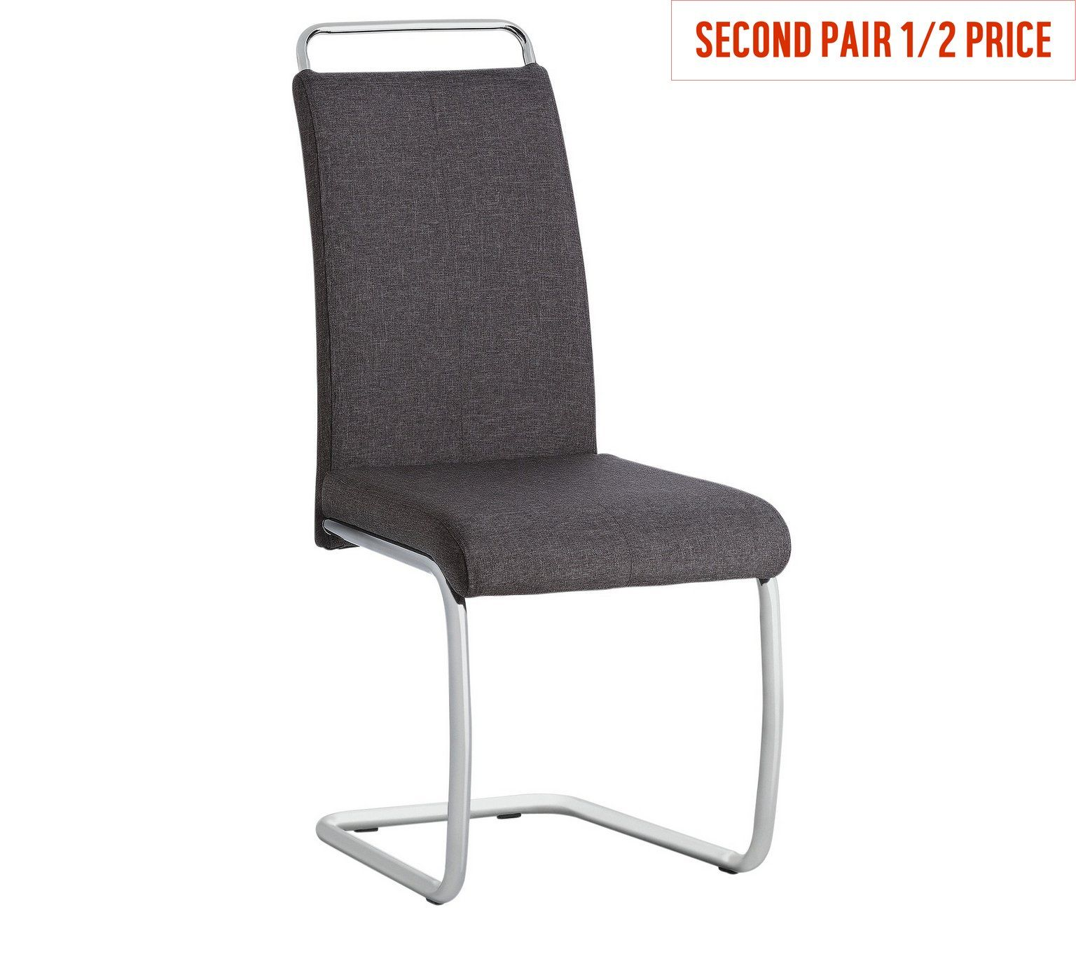 Buy Hygena Lyssa Pair of Grey Cantilever Dining Chairs at