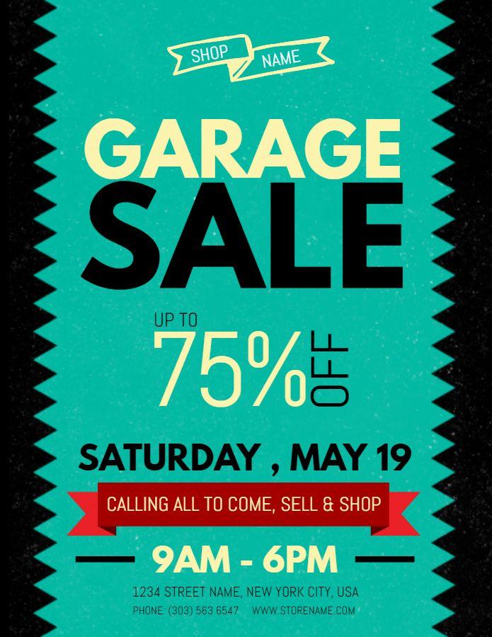 Garage sale flyer template - blue Garage Sale Posters Pinterest - yard sale flyer template