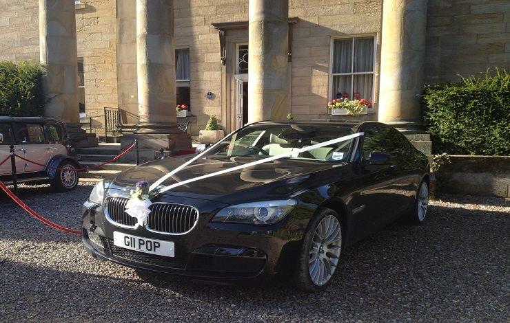 Bmw 7 Series Wedding Car Outside Balbirnie House Hotel Markinch Fife