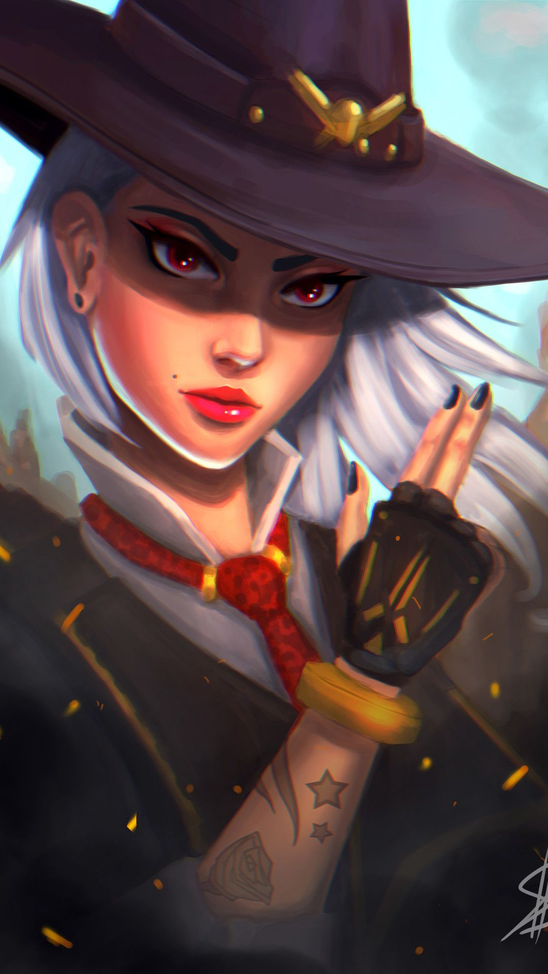 Ashe From Overwatch Mobile Wallpaper (iPhone, Android