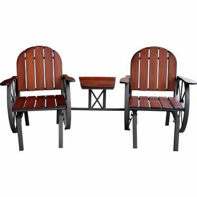 Exceptional Red Shed Double Glider And Table. Wagon Wheel. Found At Tractor Supply