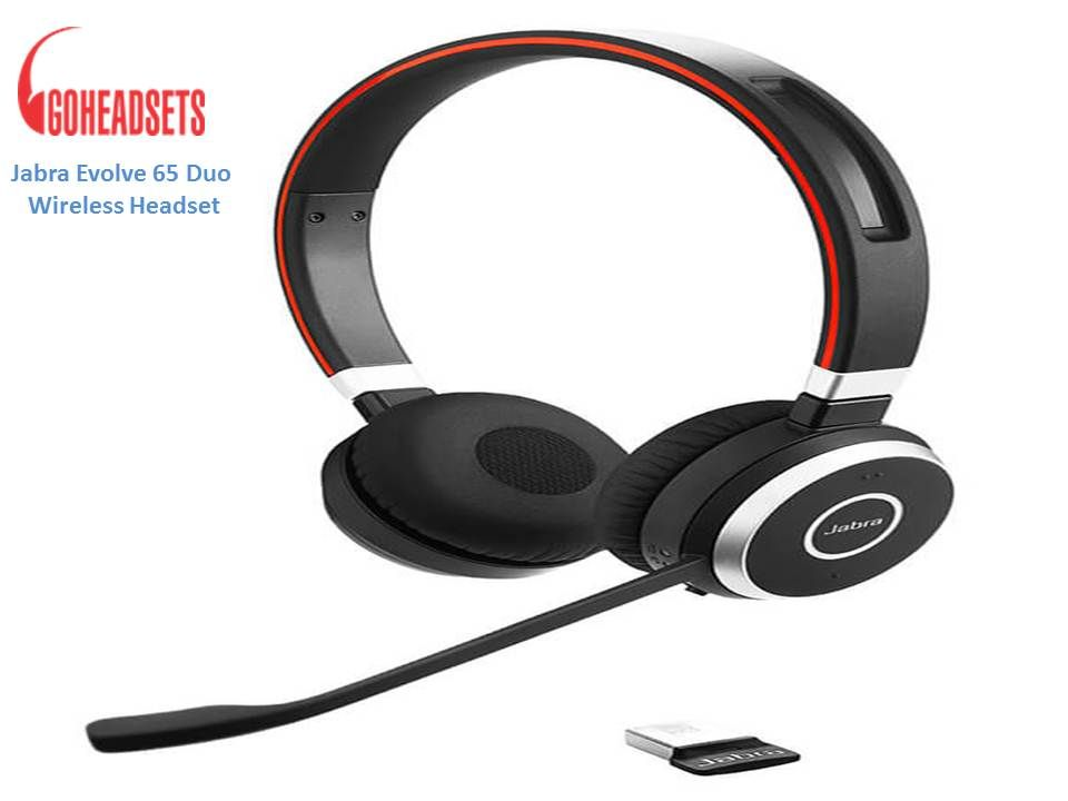 Jabra Evolve 65 Duo Wireless Bluetooth Headset Headset Bluetooth Headset Headsets