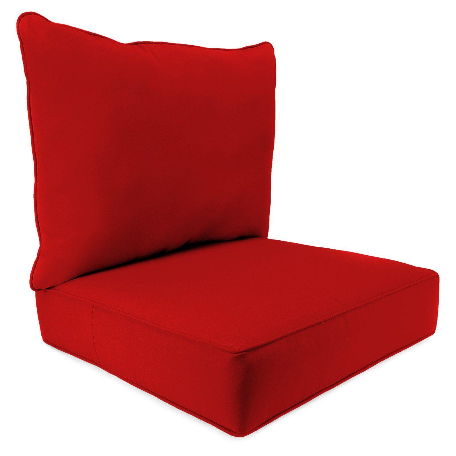 Jordan Manufacturing Sunbrella 2 Piece Outdoor Deep Seat Chair Cushion In 2021 Deep Seat Cushions Chair Cushions Deep Seating