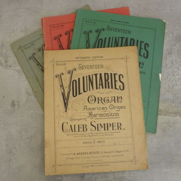 Antique seventeen voluntaries for the organ american organ or antique seventeen voluntaries for the organ american organ or harmonium composed by caleb simper fandeluxe Images