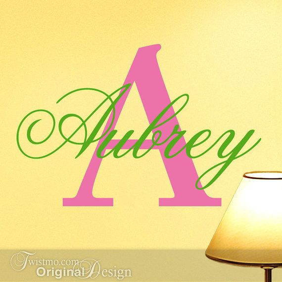 Vinyl Monogram Decal Custom Name and Initial - Wall Decal Letters ...