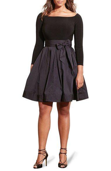 965709047db5 Lauren Ralph Lauren Jersey   Taffeta Party Dress (Plus Size) available at   Nordstrom