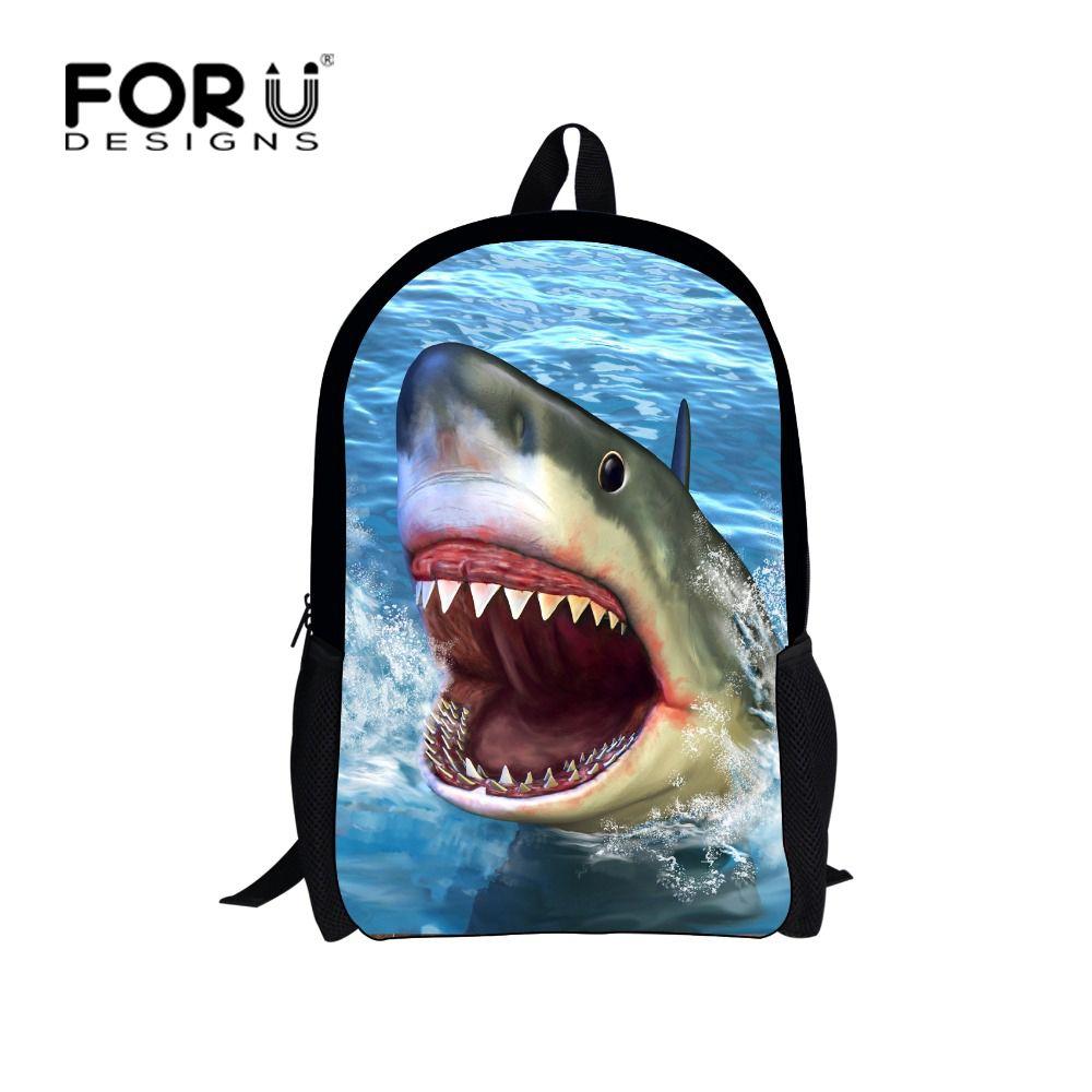 Bags for high school students - Fashion Children Backpack For High School Students Animal Dolphin Shark Printing Kids Backpacks Cool Girls School Book Bags