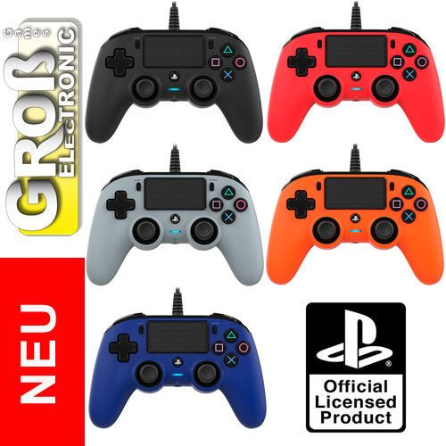 Nacon Ps4 Controller Compact Color Edition Wired Plays
