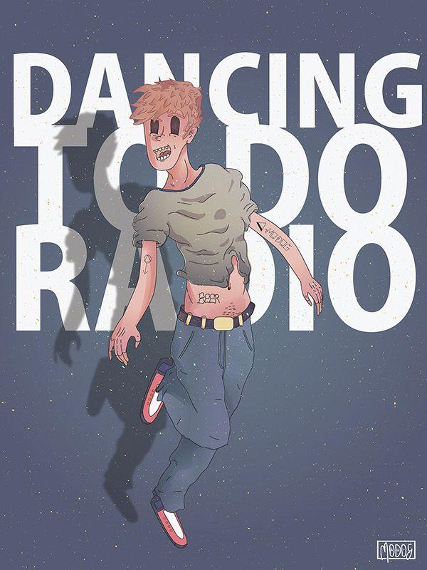 "Dancing To Do Radio by Gabriel ""Modog"" https://www.behance.net/gallery/23976031/DANCING-TO-DO-RADIO"