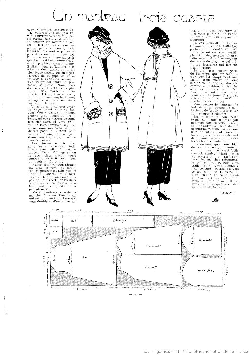 La Femme de France 1922/09/17   vintage patterns   Pinterest ...