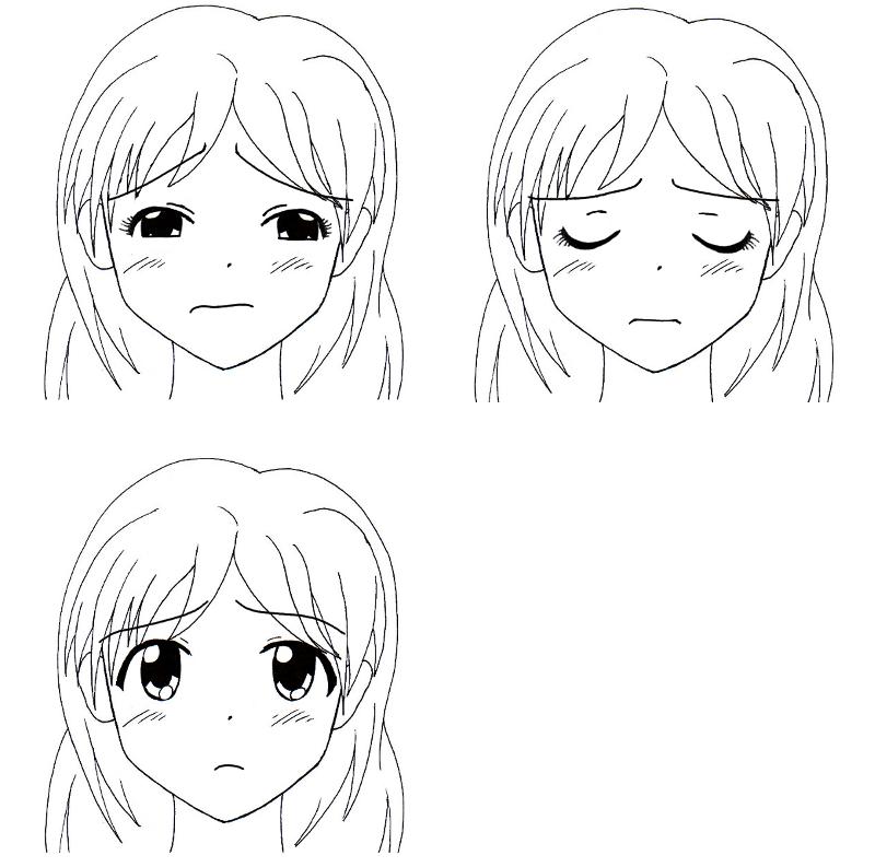 Sekai 39 s blog apprendre dessiner manga tutoriel manga les expressions faciales des femmes - Dessiner un manga ...