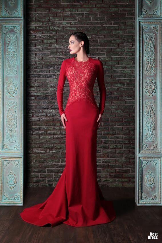 18591c9044c97 En Şık Uzun kollu Abiye Elbise Modelleri | Abiye Elbise Modelleri ...