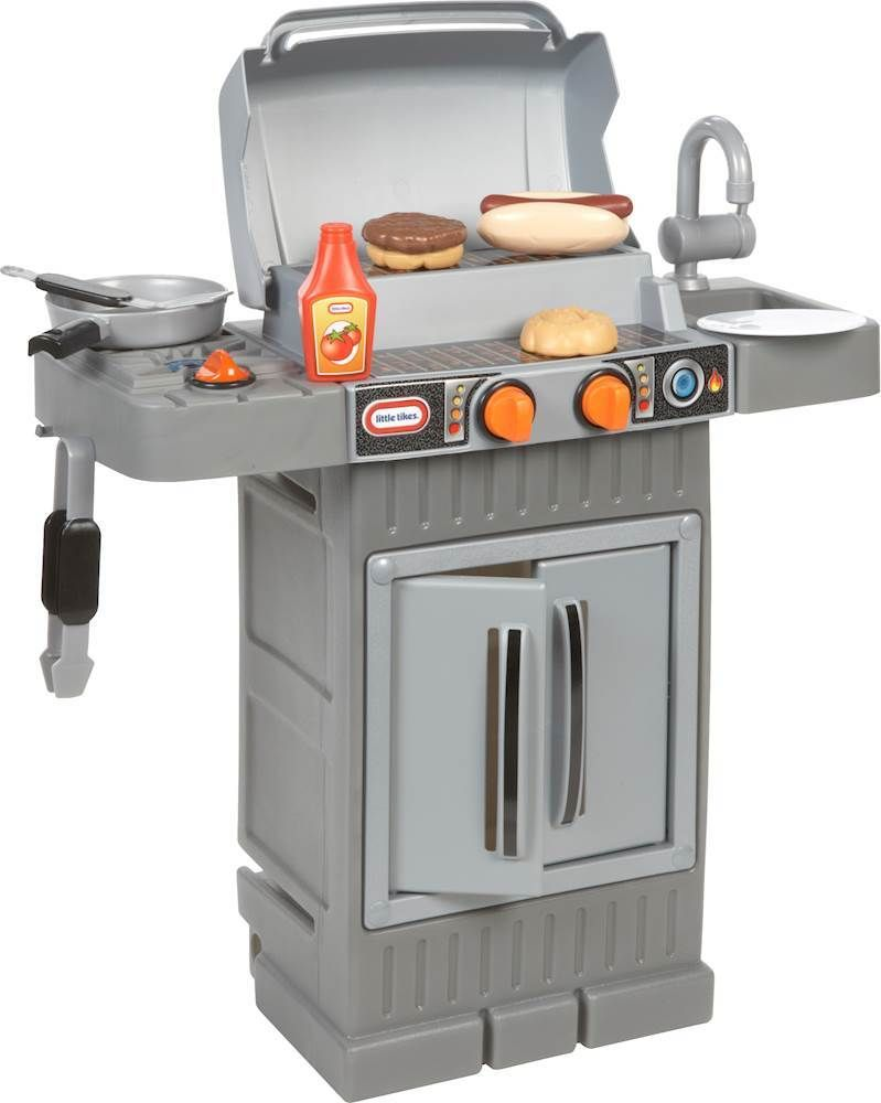 Little Tikes Cook N Grow Bbq Grill Play Set 633904m Best Buy In 2020 Play Kitchen Pretend Play Kitchen Bbq Grill