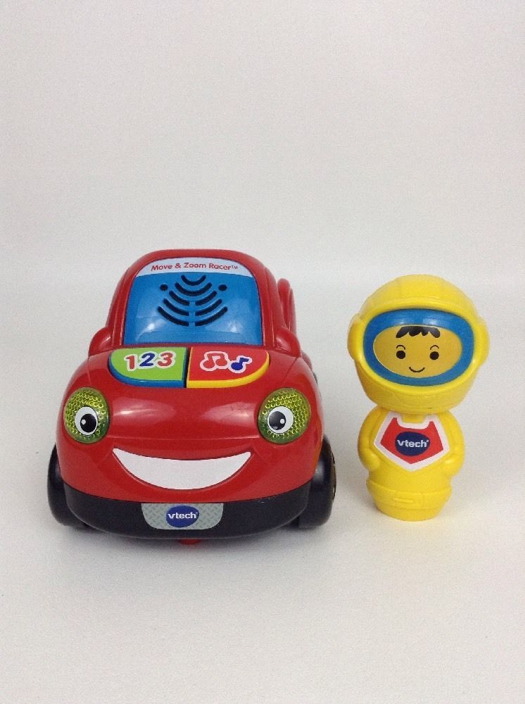Vtech Move Zoom Racer Kid Car Toy Red Yellow Tested W Batteries