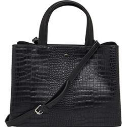 Bolso de compras Fluid Ladies Mock Croc Negro Fluid