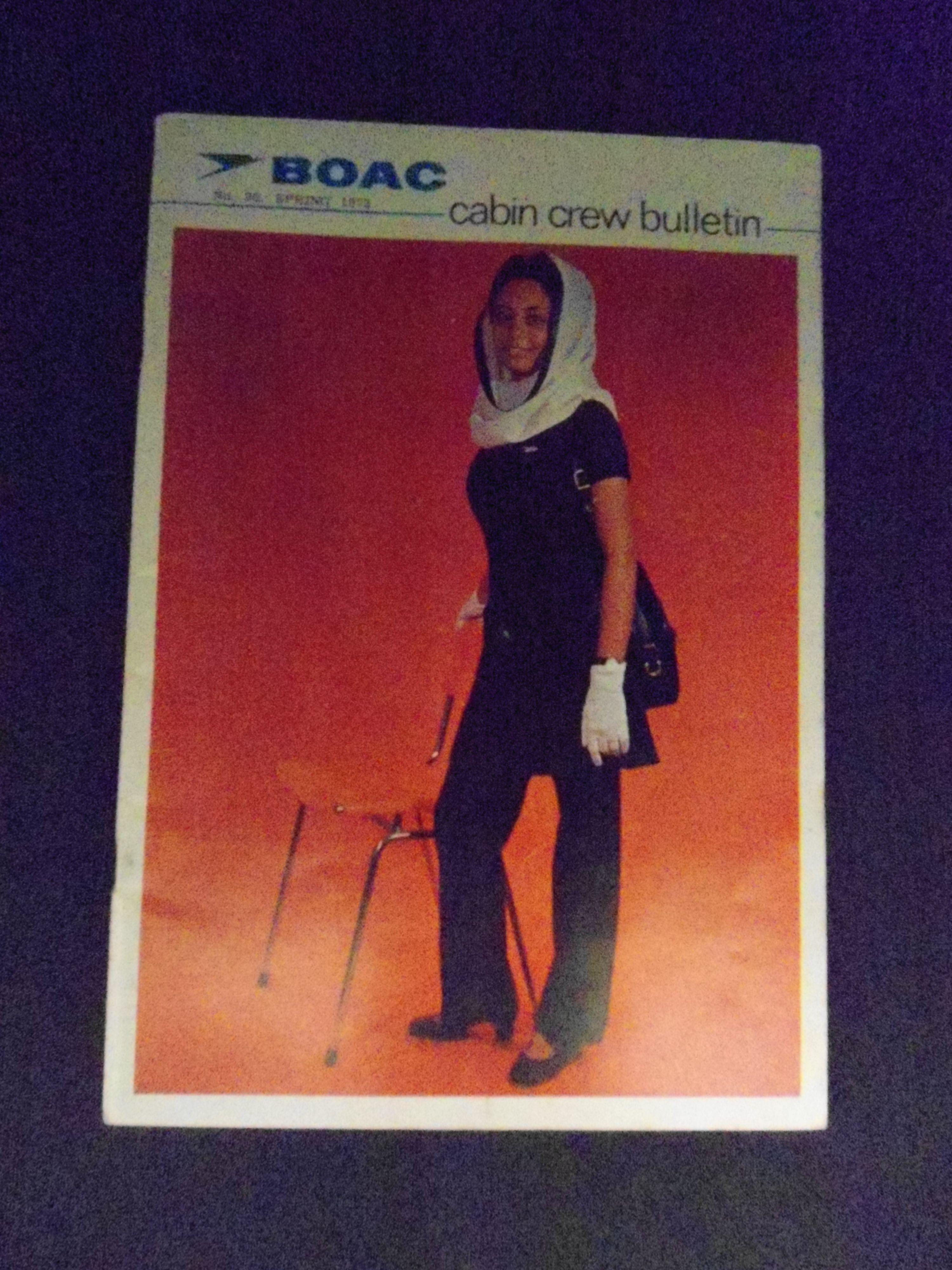 BOAC cabin crew bulletin 1973