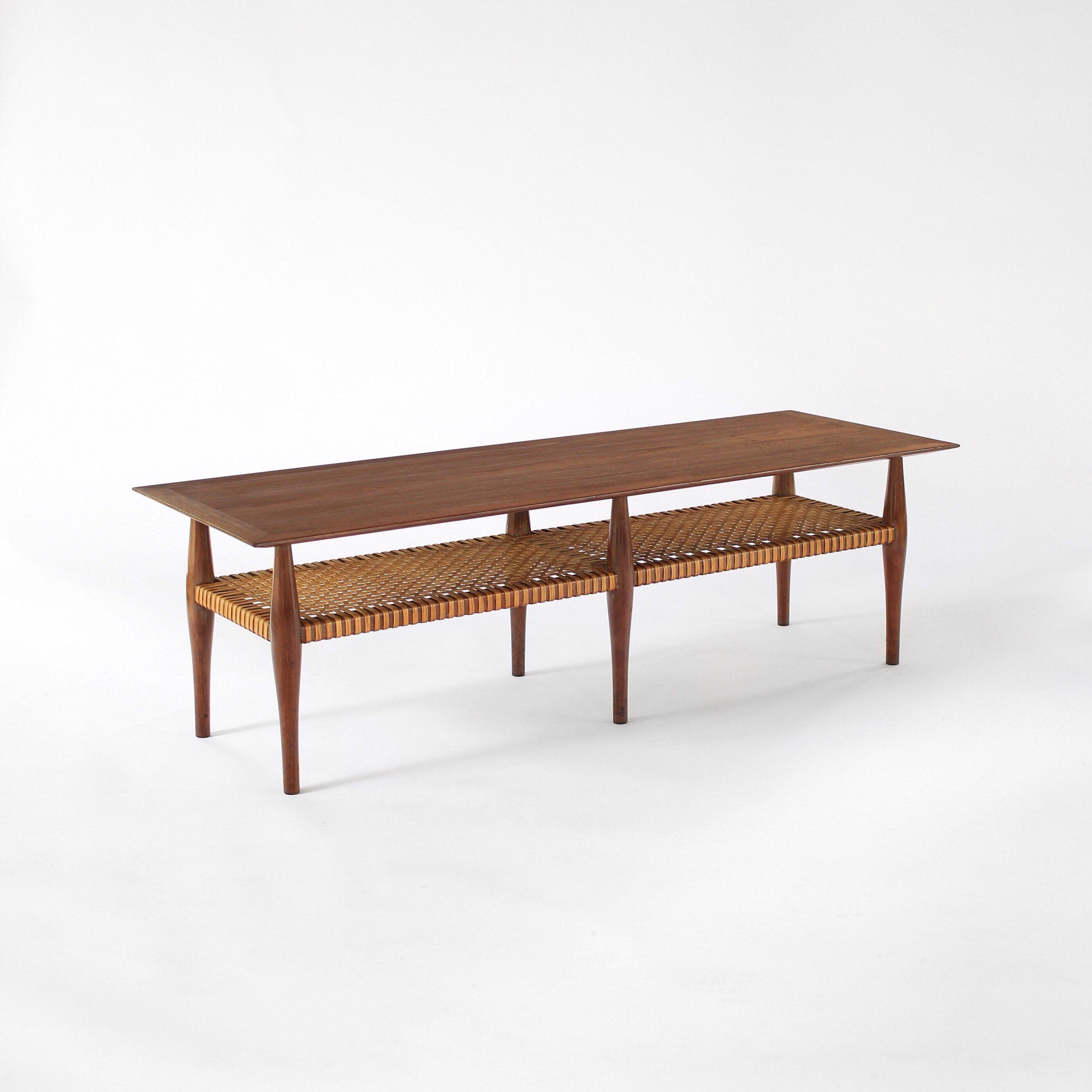 Vintage Mid Century Scandinavian Modern Coffee Table Walnut And Cane From Sweden By Revisionfurniture O In 2020 Coffee Table Walnut Coffee Table Modern Coffee Tables
