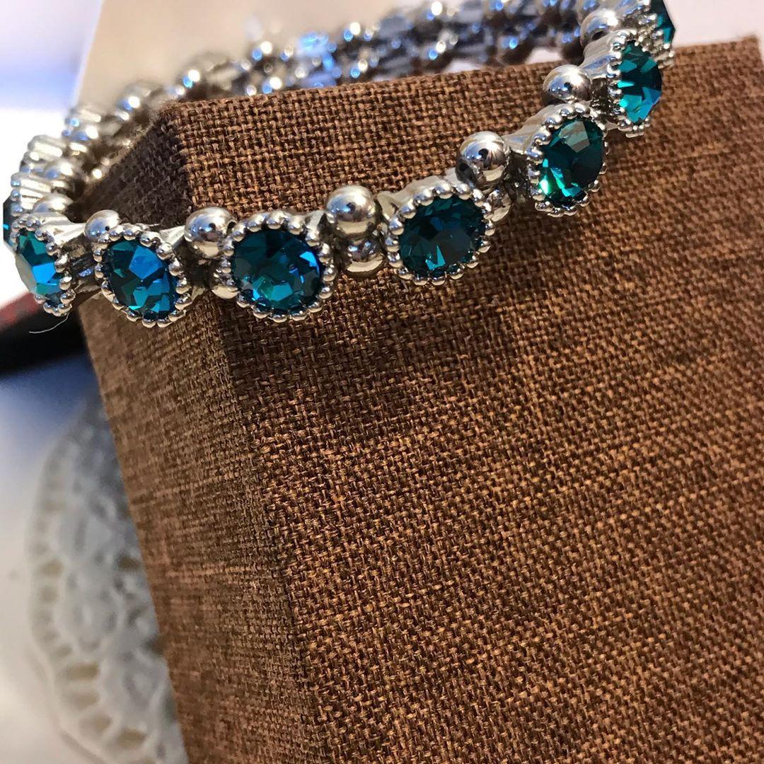 سوار تركواز وفضي اللون ثابت Tulay تولاي Limited Edition For You اكسبلور اكسسوارات تراچي مجوهرات Jewe Cuff Bracelets Jewelry Bracelets
