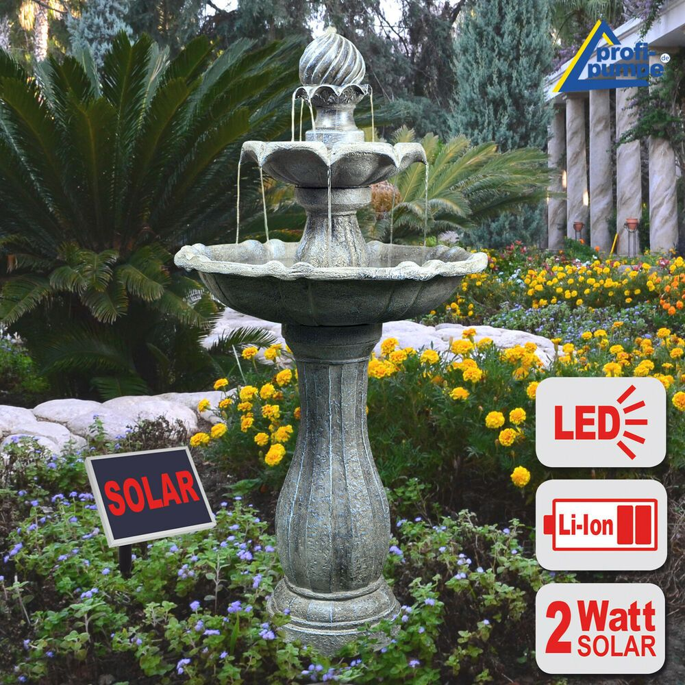 Gartenbrunnen Solar Spring Brunnen Zierbrunnen Solar Teichpumpe Wasserspiel Led Gartenbrunnen Springbrunnen Brunnen