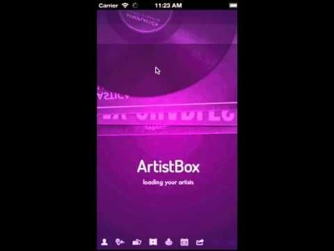 Love how ArtistBox loads those icons at the bottom. The splashscreen colors are very young.