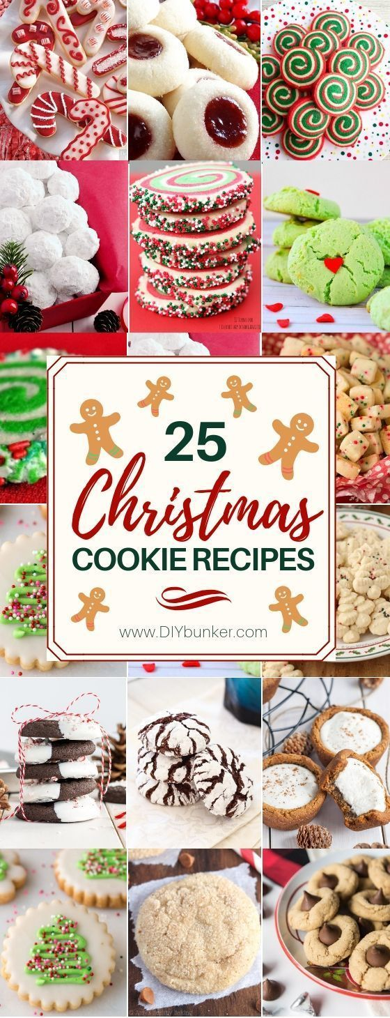 Cookie Recipes That're Beyond Easy to Make 25 Best Christmas Cookie Recipes25 Best Christmas Cookie Recipes