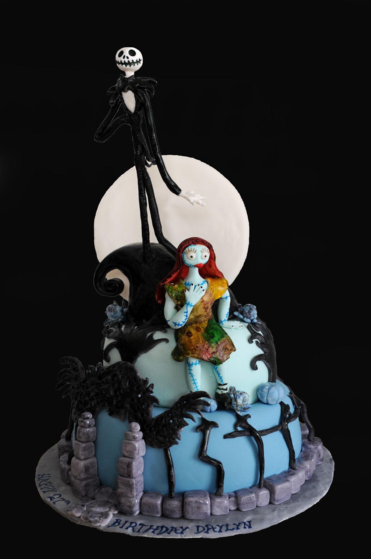Nightmare Before Christmas Cake Jack Skellington Cake With Sally