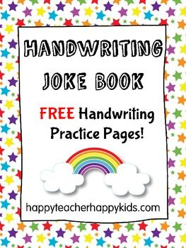 Free Handwriting Joke Book Book Jokes Homeschool Writing Kindergarten Writing