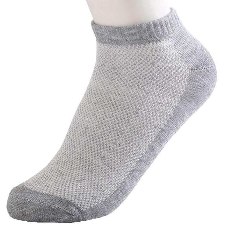20 stks = 10 paar effen mesh herensokken onzichtbare sokjes mannen summer ademend dunne boot sokken size eur 38-43 goedkope prijs