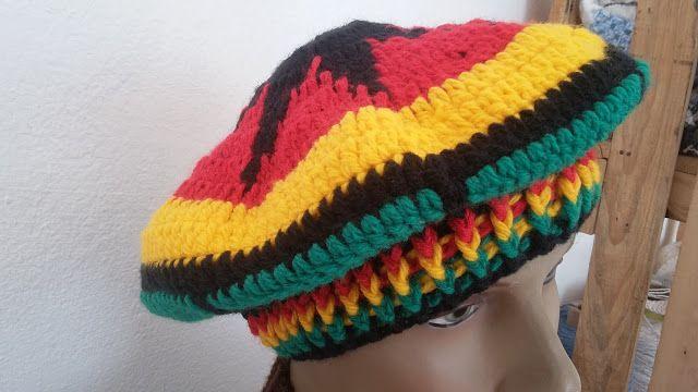 Artesanato Alice Arteira   BOINA JAMAICANA (reggae b6dc4c575a5