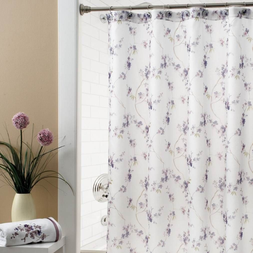 Extra Wide Fabric Shower Curtain