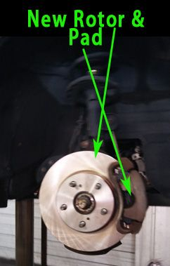 2of2 Diagnosis: Found front brake rotors showing warpage
