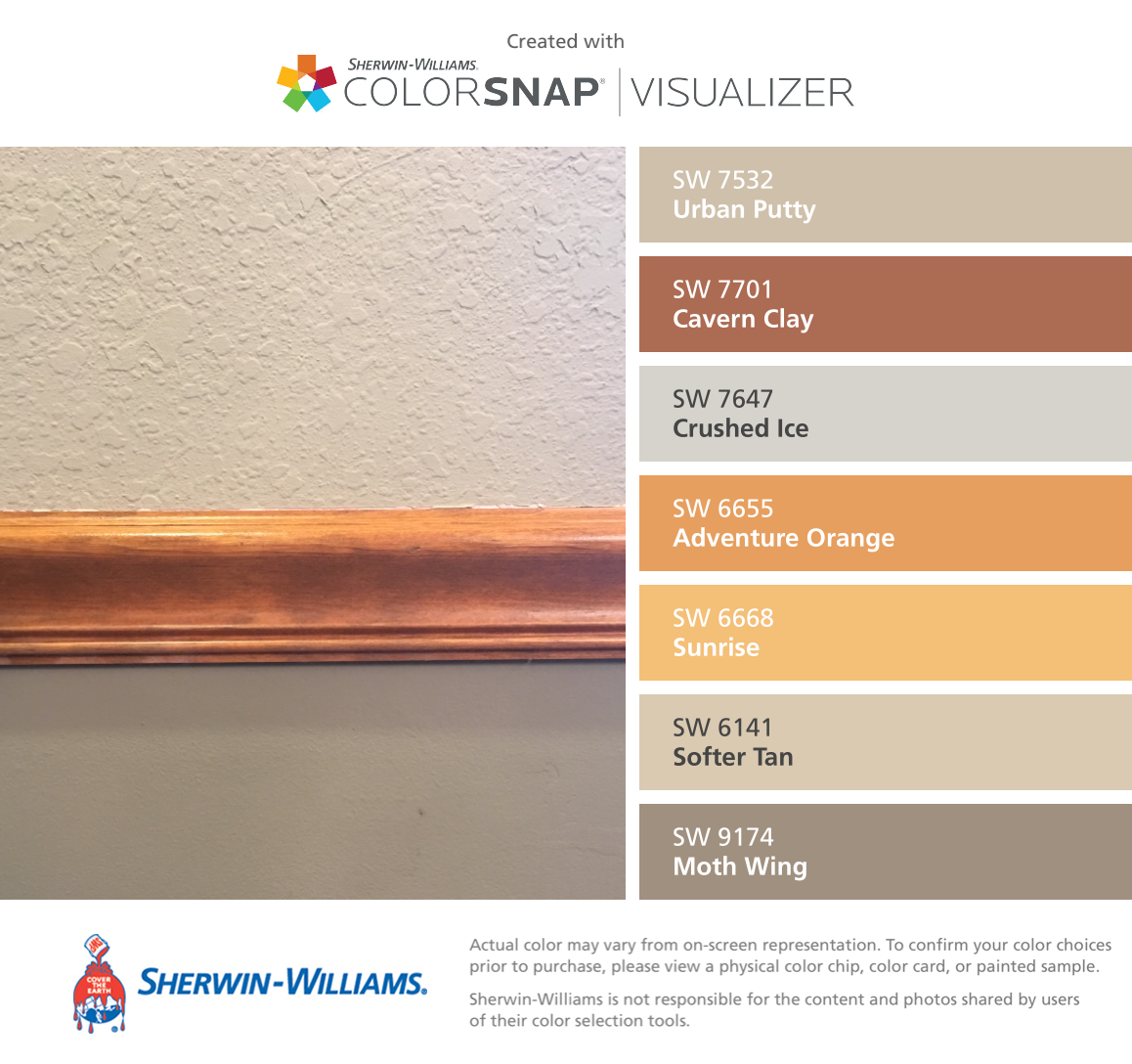 I found these colors with colorsnap visualizer for iphone by sherwin williams urban putty sw - Sw urban putty ...
