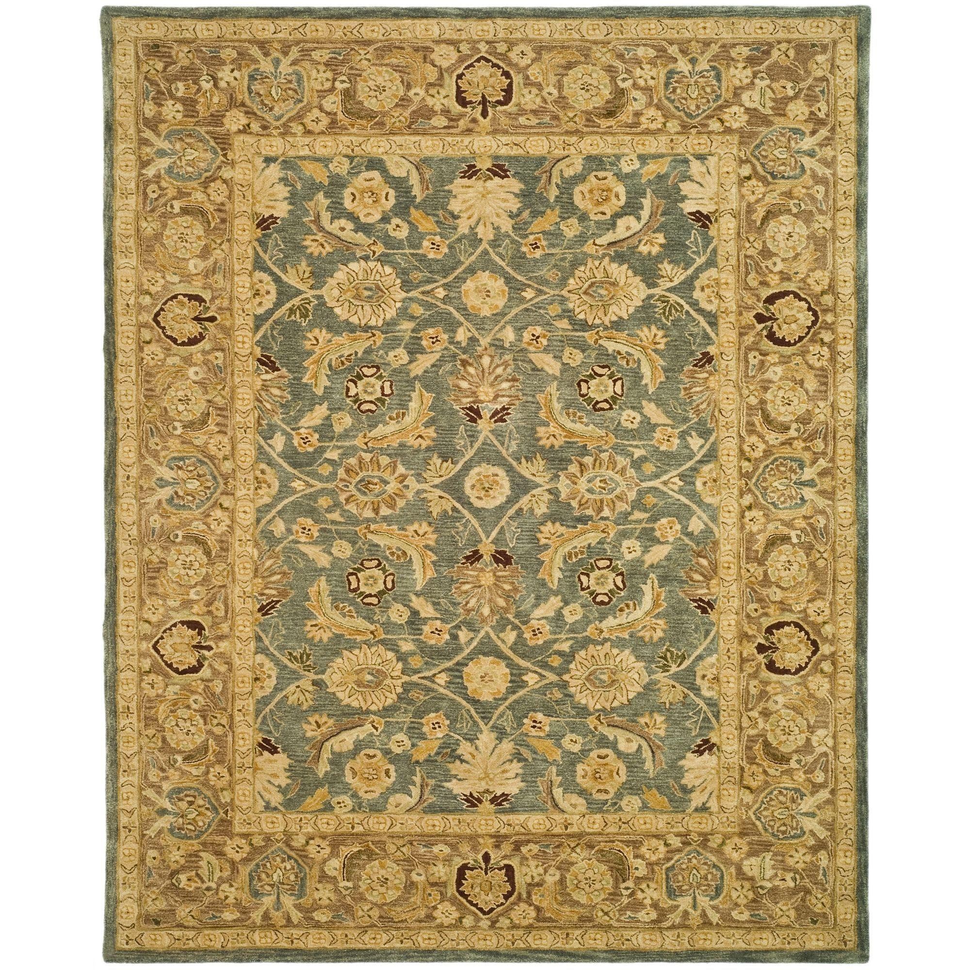 Safavieh Handmade Anatolia Legacy Teal Blue Taupe Wool Rug 12 X 18