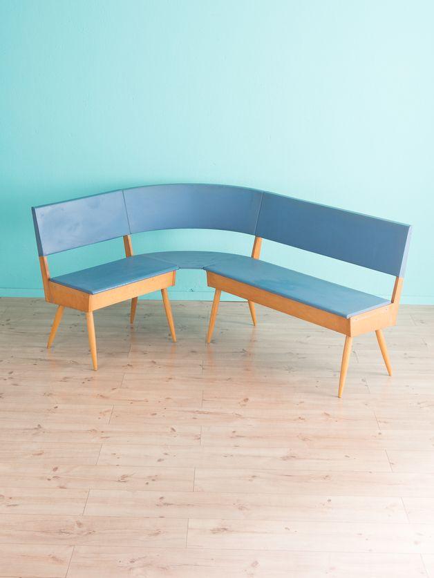 vintage st hle 50er k chenbank bank k chenstuhl stuhl vintage ein designerst ck von mid. Black Bedroom Furniture Sets. Home Design Ideas