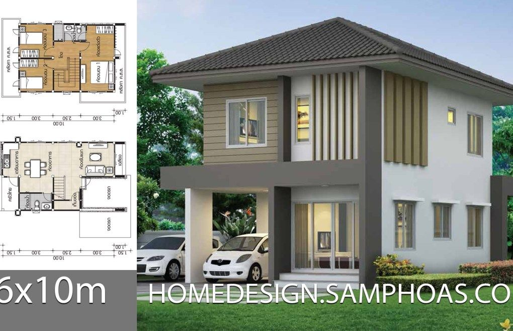 Best Home Design Plans 6X10M With 3 Bedrooms House Design 640 x 480