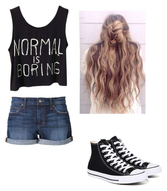 """""""Chill Mode"""" by teamwallflower on Polyvore featuring Joe's Jeans and Converse"""