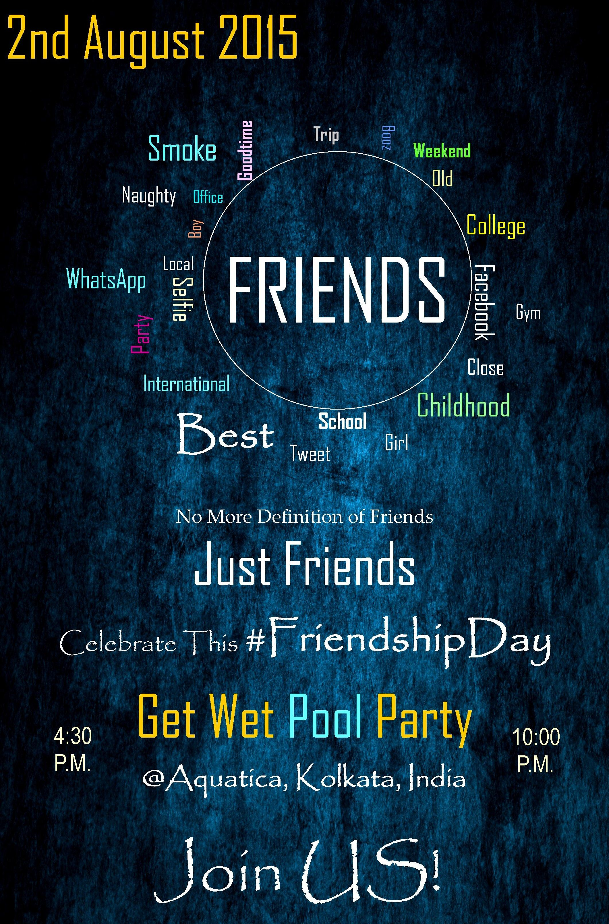 Poster design definition - Event Poster Design No More Definition Of Friends Justfriends Leeon International Management Present Get Wet Pool