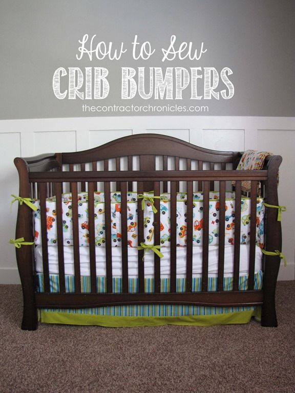 How to sew crib bumpers copy Cribs, Bumper pads for
