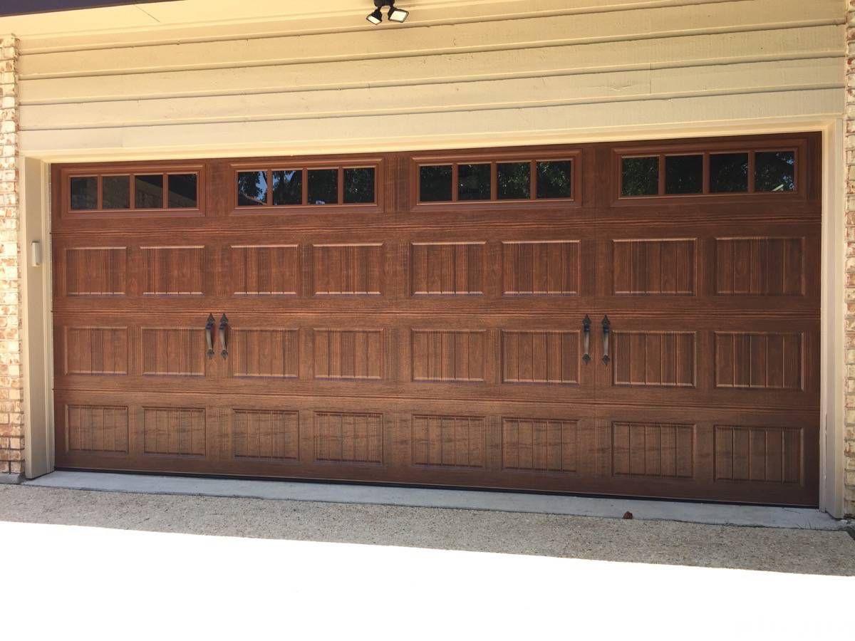 New Install Walnut Bead Board Garage Door With Thames Windows