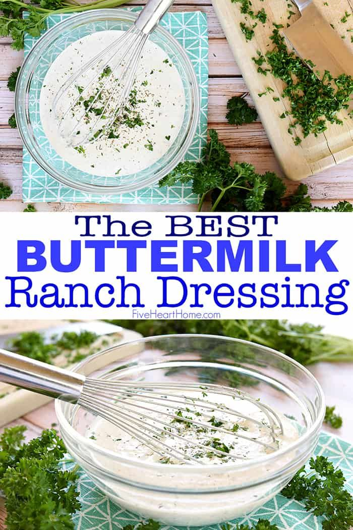 The Best Homemade Buttermilk Ranch Dressing All Natural Loaded With Herbs In 2020 Homemade Ranch Dressing Buttermilk Buttermilk Ranch Dressing Ranch Dressing Recipe