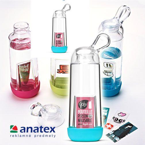 Keď spojíme dobrý nápad,  užitočnosť, starostlivosť o zdravie a pekný dizajn, získame presne reklamný predmet Správa vo fľaši GOBI.  Transparentná, ľahká a vhodná do umývačky, vyrobená vo Francúzsku z plastu bez bisphenolu A pôsobí ako lupa na vašu správu. Čo na ňu napíšete, je už na vás.