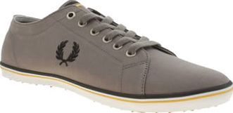 Fred Perry Grey Kingston Twill Mens Trainers Update your plimsoll collection this season with another timeless profile from Fred Perry. The popular Kingston Twill features a grey fabric upper with subtle yellow piping on the slim rubber sole uni http://www.comparestoreprices.co.uk/january-2017-8/fred-perry-grey-kingston-twill-mens-trainers.asp