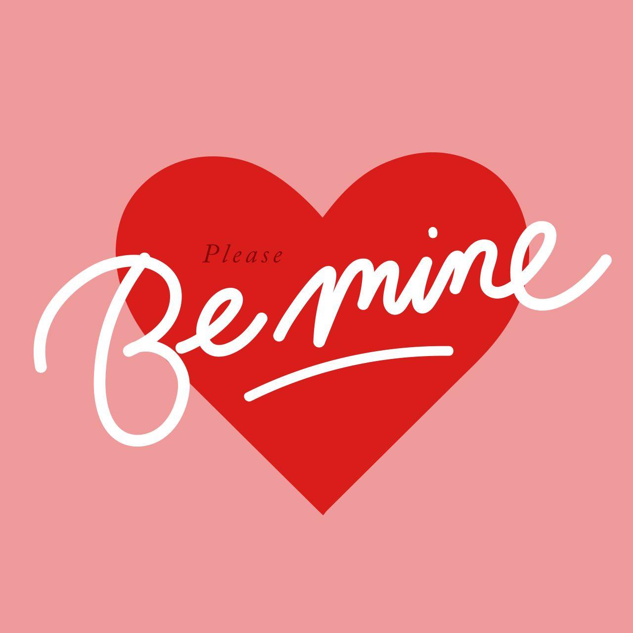 Please Be Mine Valentines DAy Love Valentinstag Liebe Quote Zitate Sprüche  Design By Www.christin