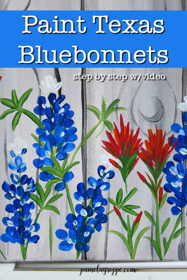 How to Paint Texas Bluebonnets - Pamela Groppe Art