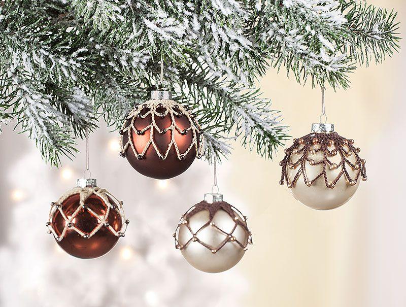 Anleitung: Weihnachtskugeln   Filigran Behäkelt