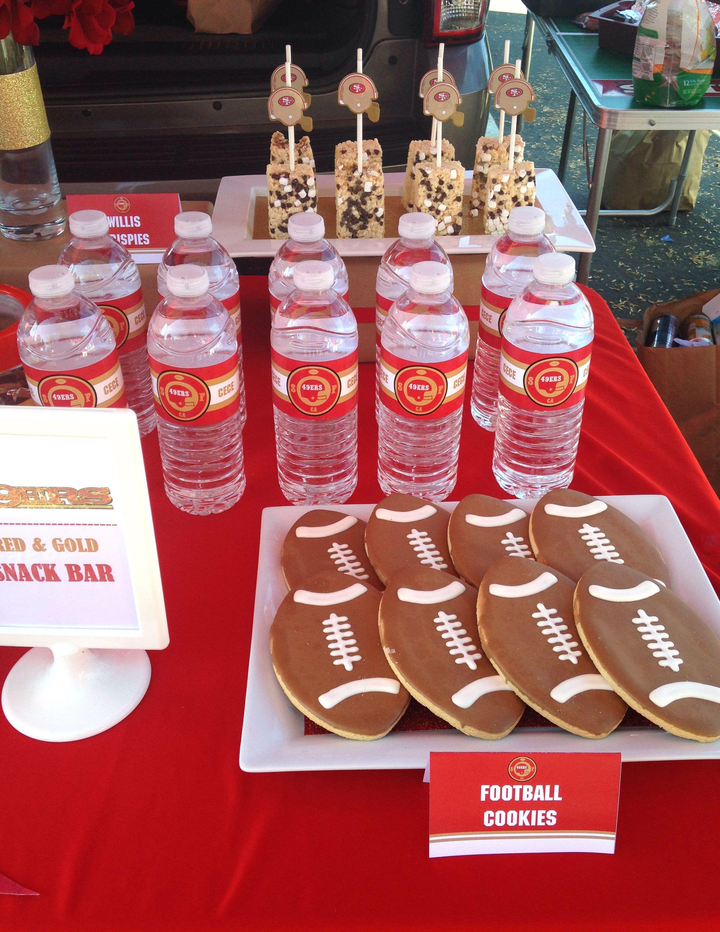 49ers water bottles | JUST LOVELY FAVORS | Pinterest | Water bottles