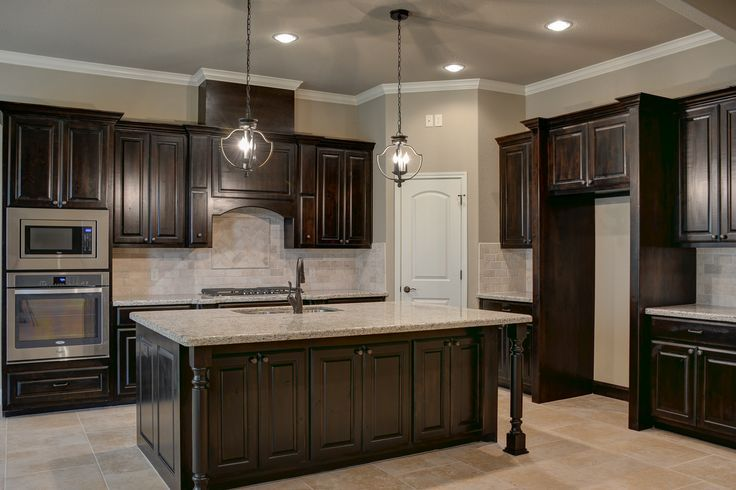 dark stained kitchen cabinets black walnut stained knotty alder cabinets kitchen 14487