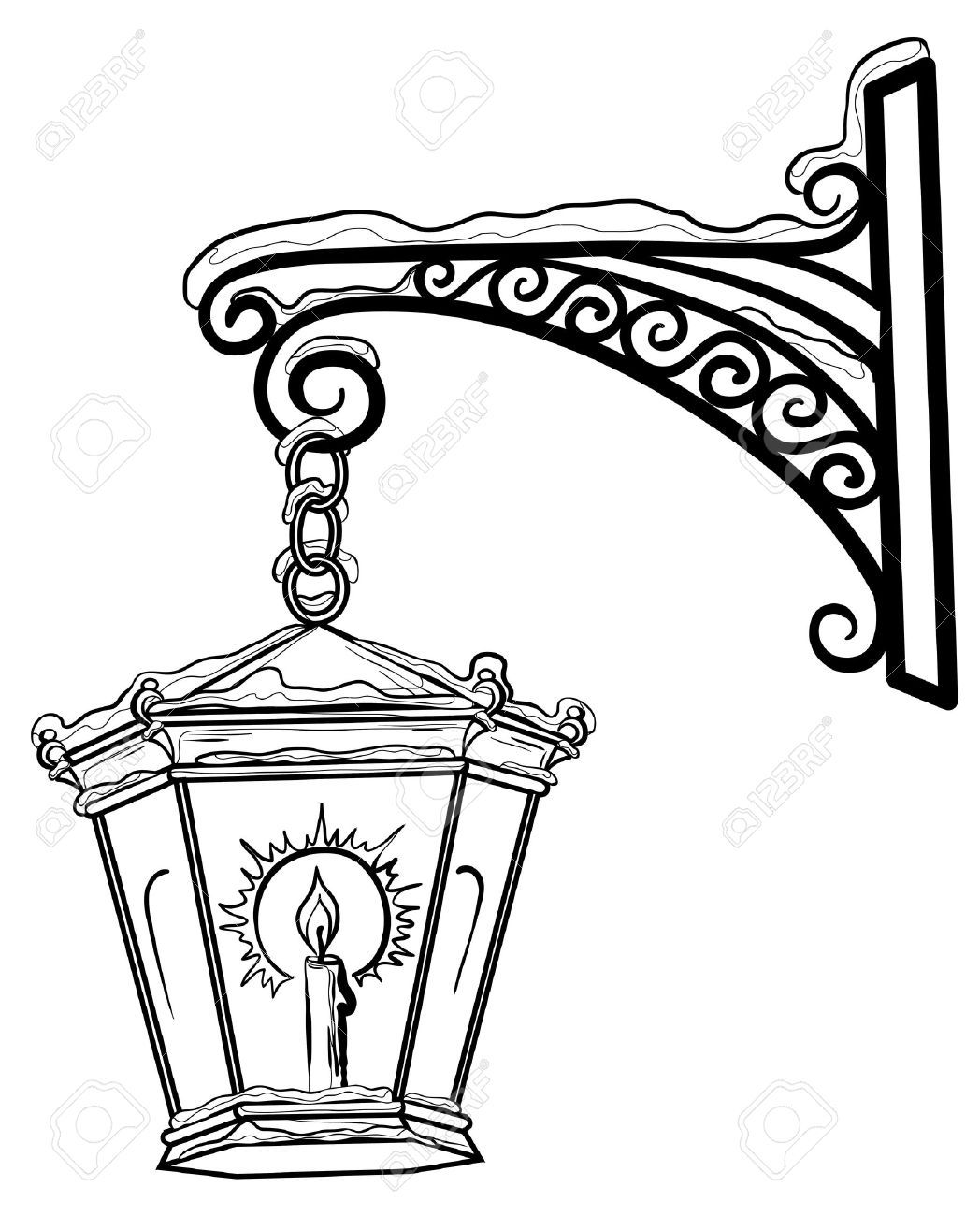 Street Lamp Stock Illustrations, Cliparts And Royalty Free Street ... for Street Light Drawing  103wja